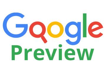 Deutsche Google-Suchergebnisse mit Webseitenscreenshots