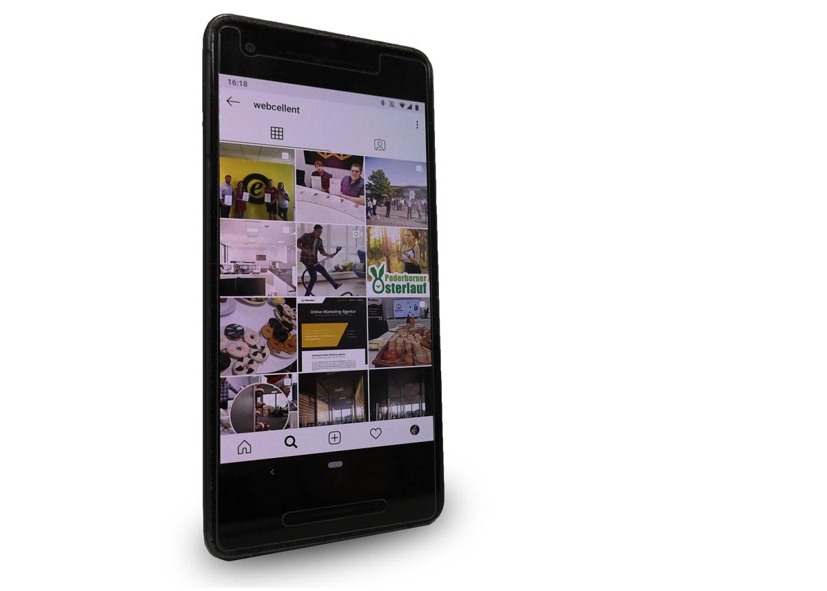 Instagram für Unternehmen Webcellent Feed